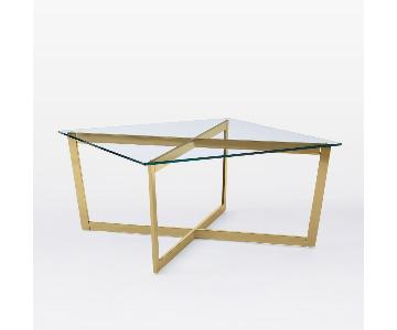 West Elm Cross-Base Coffee Table