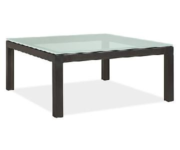 Room & Board Parsons Glass Coffee Table
