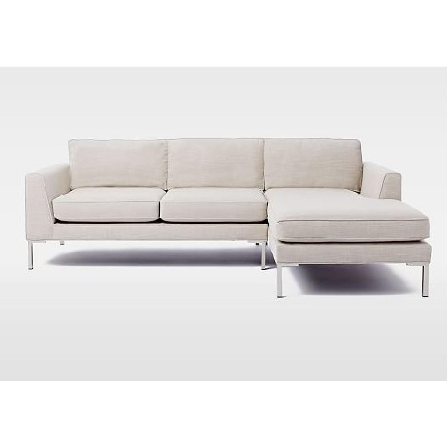 West elm marco 2 piece chaise sectional sofa aptdeco for 2 piece sectional with chaise lounge