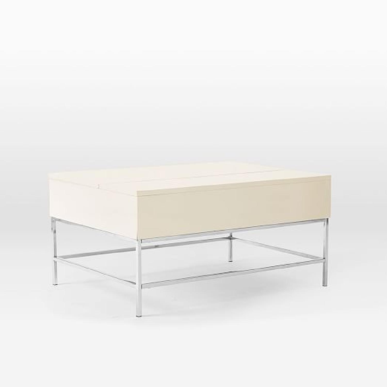 West Elm Marble Top Box Frame Dining Table AptDeco