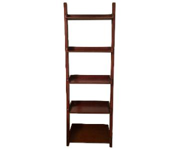 Espresso 5 Shelf Leaning Bookshelves