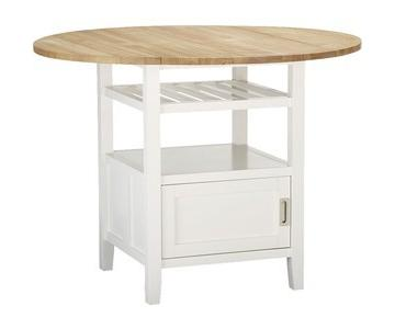 Crate & Barrel White High Dining Table