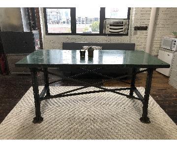 Vintage Industrial Metal Table