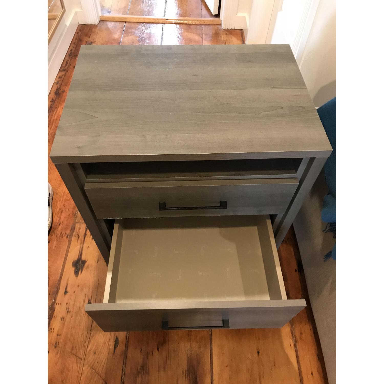 South Shore Furniture Gravity Gray 2 Drawer Nightstand Aptdeco