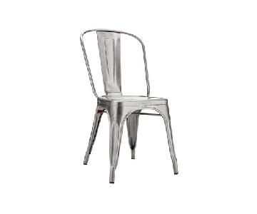 Design Within Reach Stackable Metal Chairs