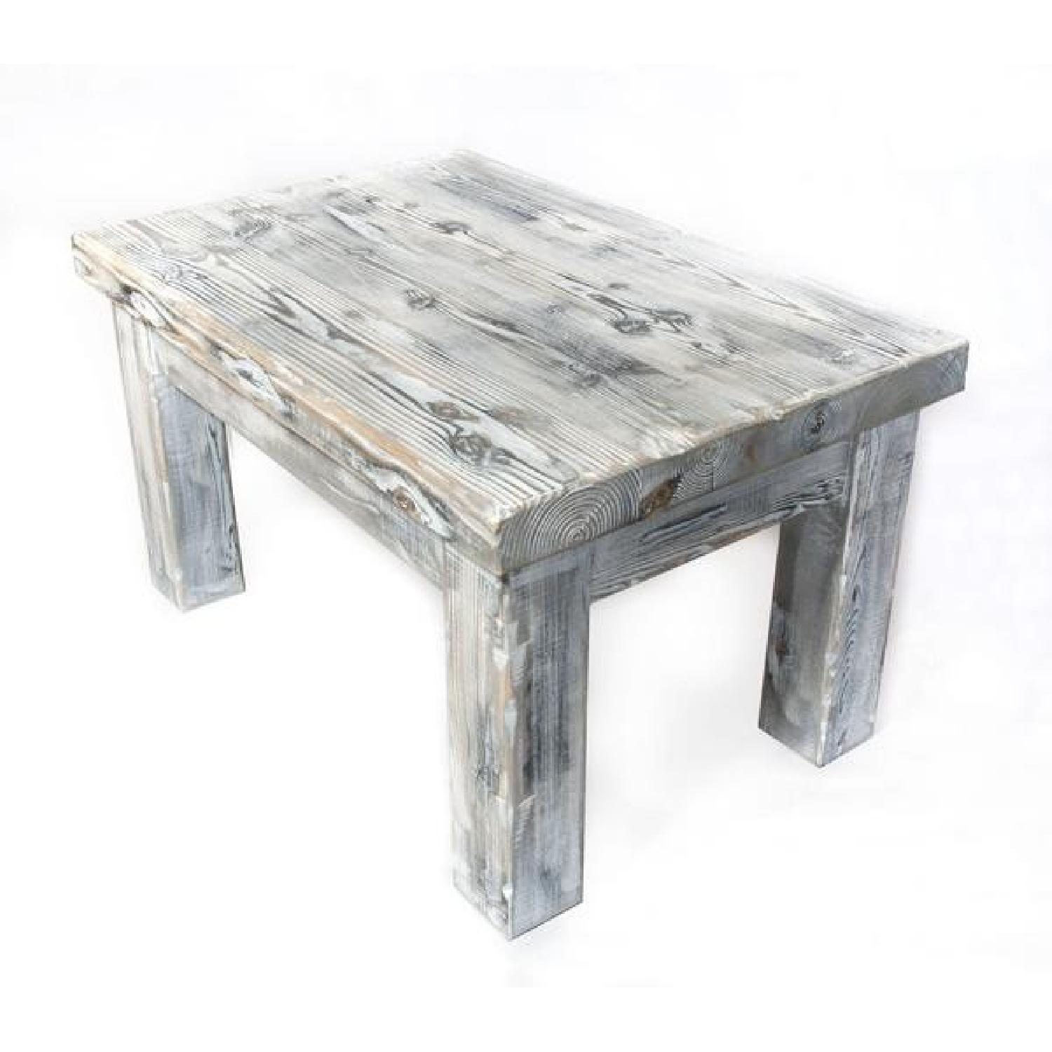 Weathered Distressed Pine Coffee Table