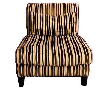 Macys Striped Armless Chair