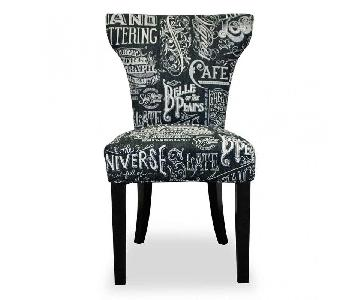 Urban Home Black Chalkboard Dining Chair