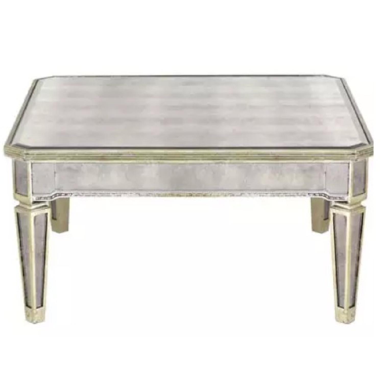 Horchow Amelie Mirrored Coffee Table AptDeco