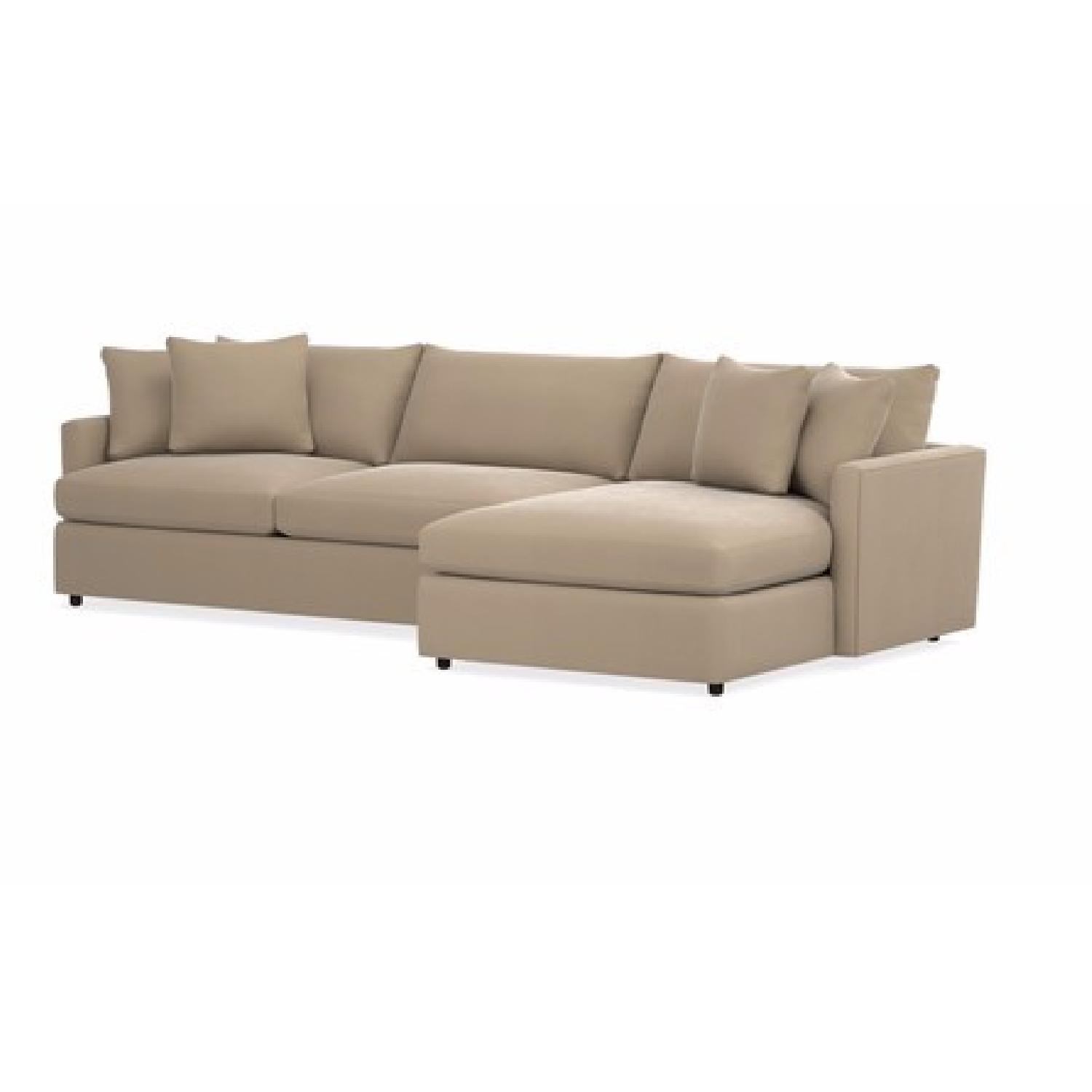 Crate Barrel Lounge II 2 Piece Sectional Sofa AptDeco