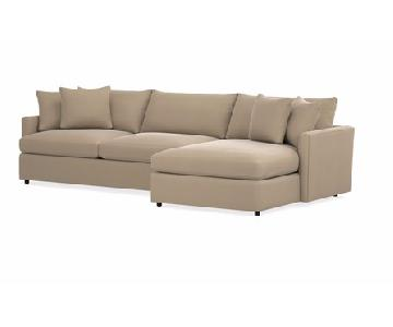 Crate & Barrel Lounge II 2 Piece Sectional Sofa