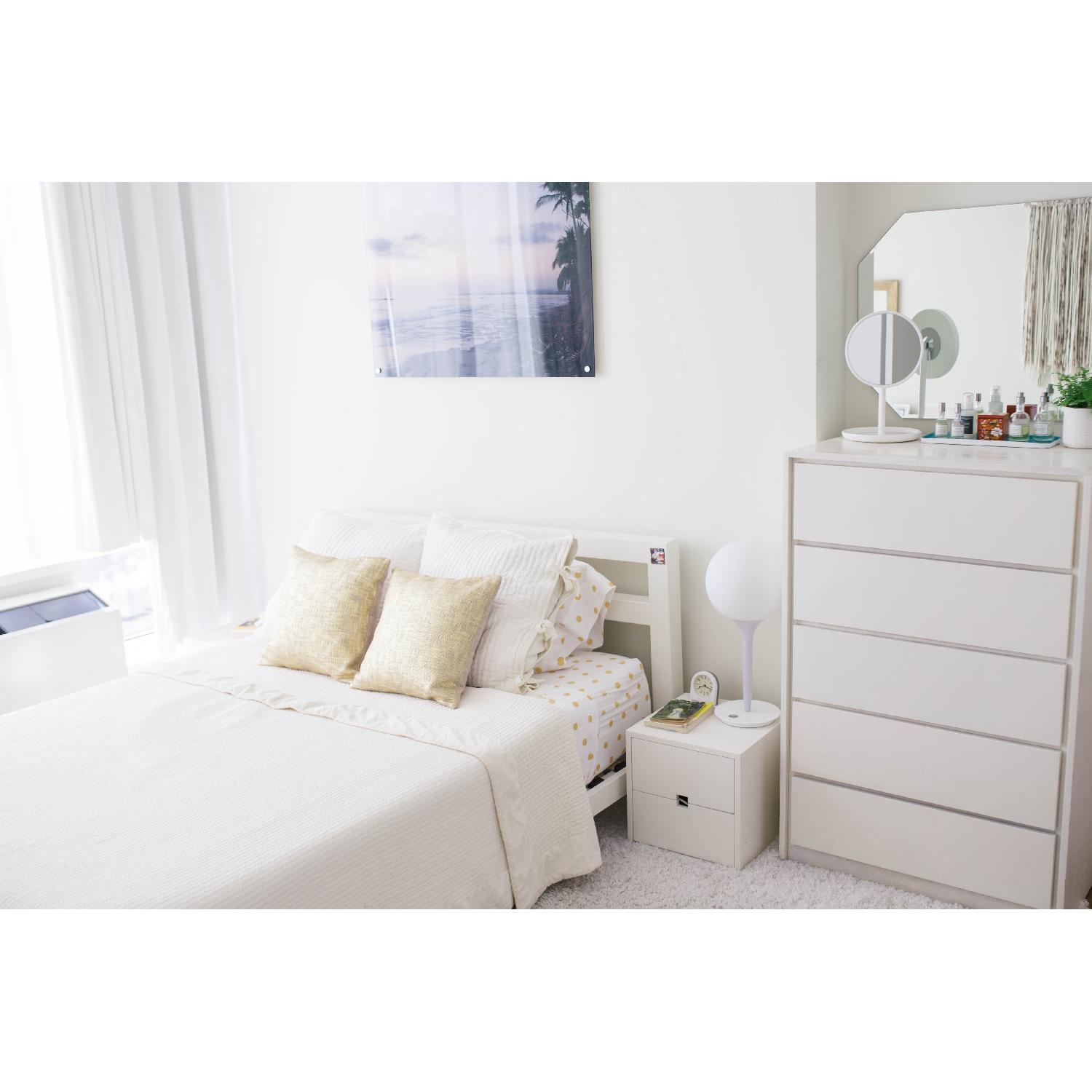 cb2 white metal queen bed frame1