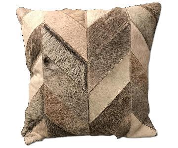 Kathy Ireland Chevron Grey Throw Pillow