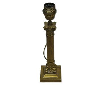 Antique French Style Brass Table Lamp