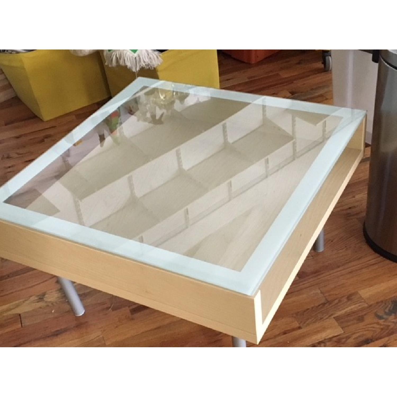 Ikea Magiker Glass Top Coffee Table Aptdeco [ 1500 x 1500 Pixel ]