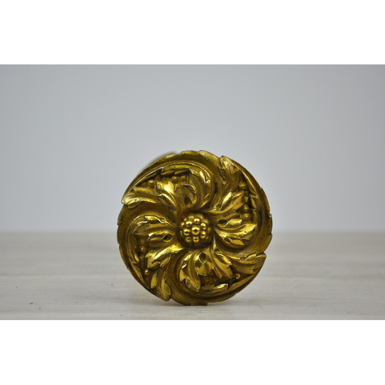 Antique Hand Finished Brass Hold Back w Marigold Motif  : 1500 1500 frame 0 from www.aptdeco.com size 1500 x 1500 jpeg 112kB