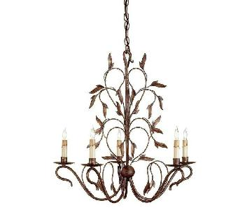 Curley & Company 5 Lights Chandelier in Hand Rubbed Bronze