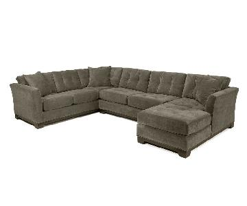 Macy's 3-Piece Chaise Sectional Sofa