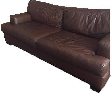 Cisco Brothers Dark Brown Leather Sofa