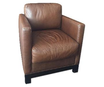Cisco Brothers Dark Brown Leather Armchair