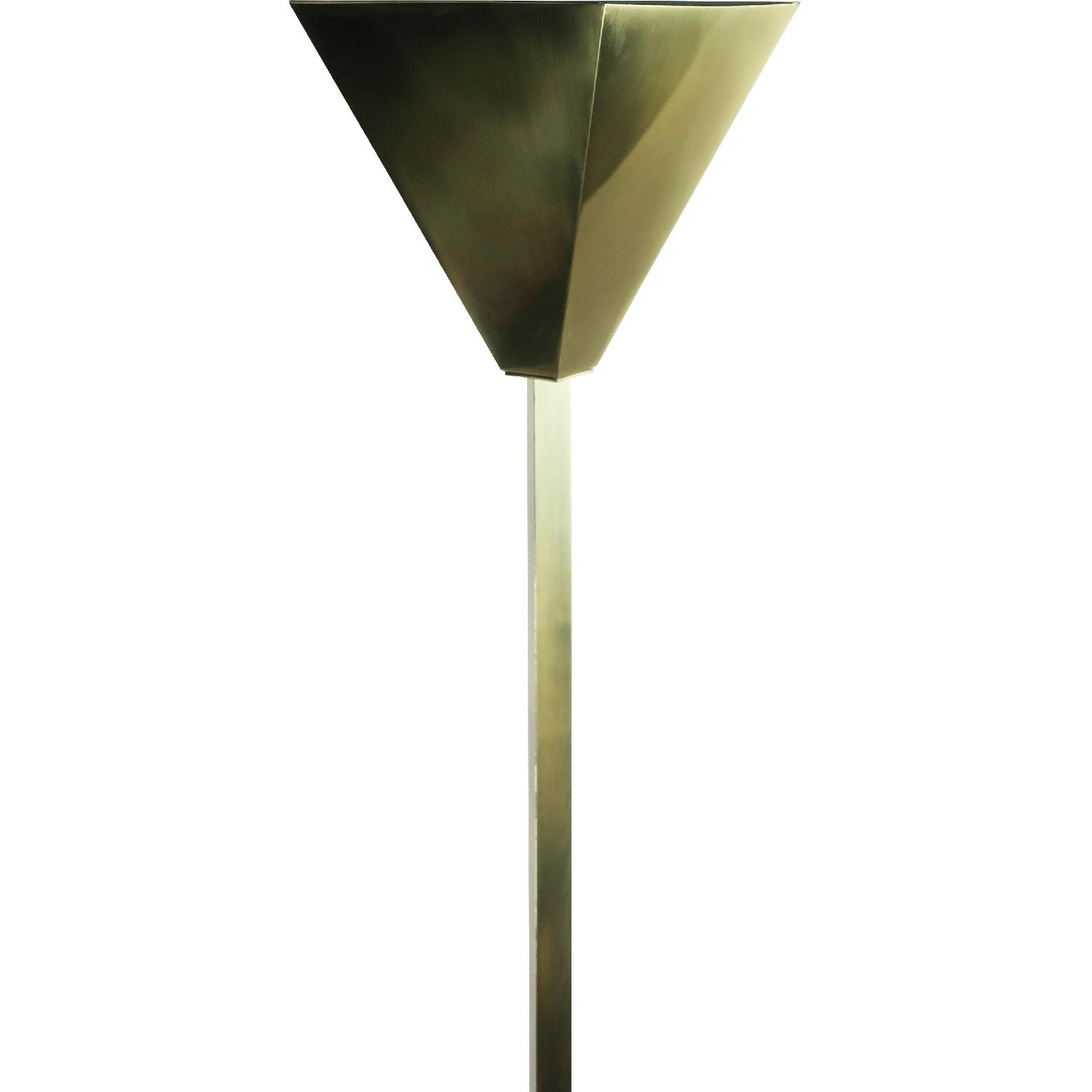 Relco Milano 1980s Brass Torchiere