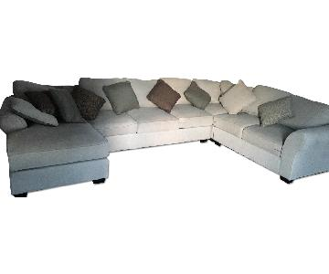 Ashley Beige 3 Piece Sectional Sofa