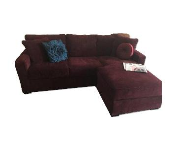 Jennifer Convertibles 2 Piece Sectional Couch