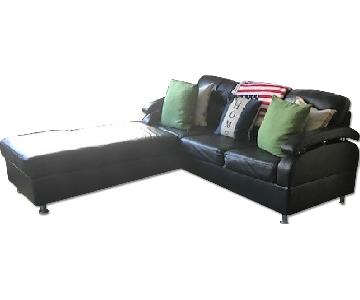 Poundex 3 Piece Sectional Sofa w/ Chaise & Ottoman