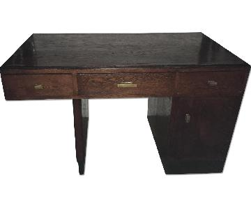 Antique Wood Partners Desk