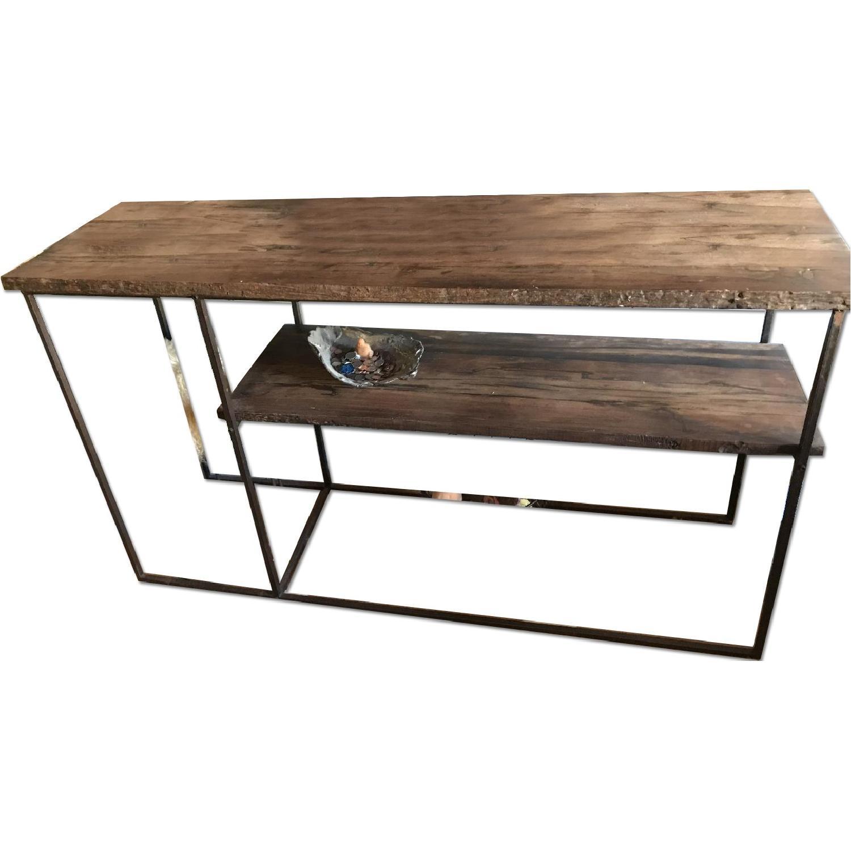 Reclaimed Wood amp Metal Coffee Table AptDeco