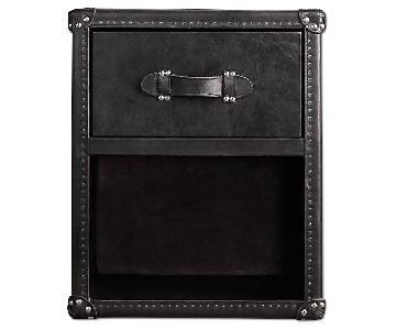 Restoration Hardware Mayfair Steamer Open Cube Nightstand