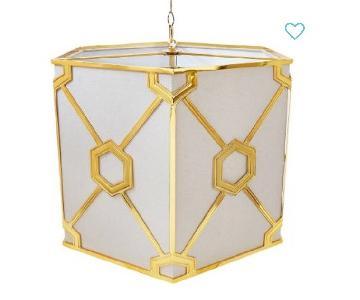 Jonathan Adler Brass Ceiling Pendant