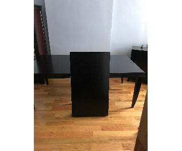 Crate & Barrel Expanding Dining Table w/ 6 Chairs