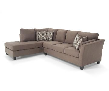 Bob's Brown L-Shaped Sectional Couch w/ Chaise