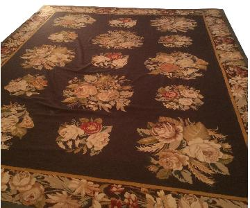 Chinese Wool Needlepoint Area Rug