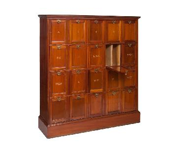 Antique Mahogany Barristers Cabinet