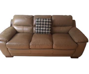 Raymour & Flanigan Tan 3 Seater Sofa