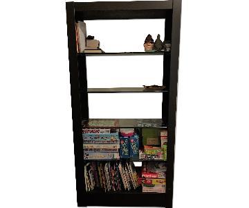 Room & Board Metal Bookcase w/ Glass Shelves