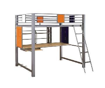 Powell Locker Room Style Full Study Loft Bed
