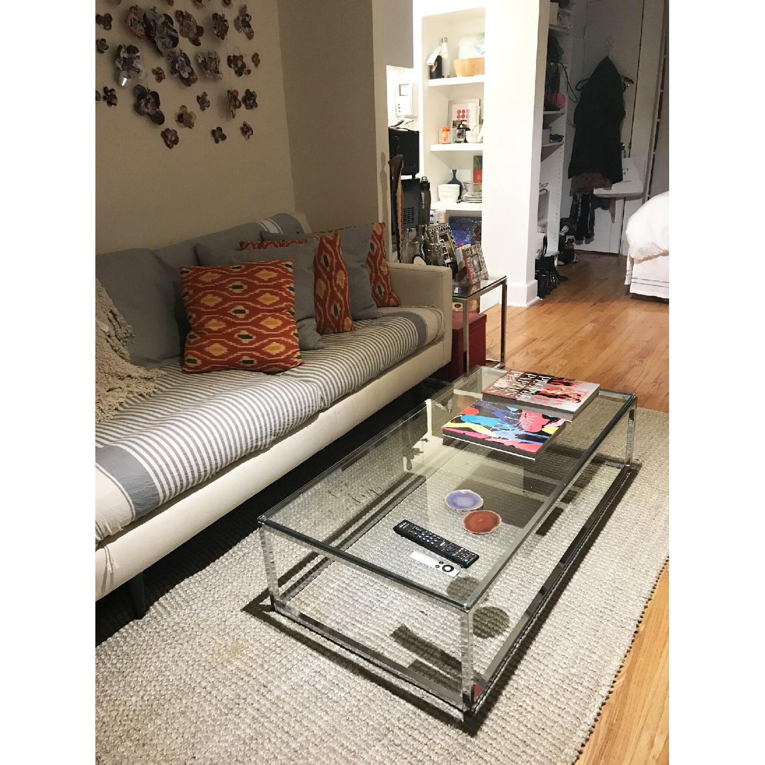Cb2 Smart Glass Top Coffee Table AptDeco