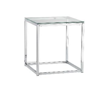 CB2 Smart Glass Top Side Table