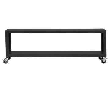 CB2 Go-Cart Carbon Rolling Coffee Table/TV Stand