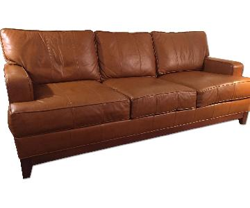 Ethan Allen Leather 3 Seater Sofa