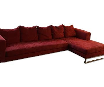Maurice Villency 2 Piece Sectional w/ Chaise