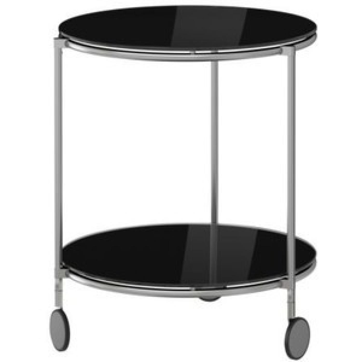 Ikea Black Glass Coffee Table AptDeco