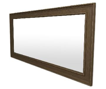 Large Mirror w/ Gray Wood Frame