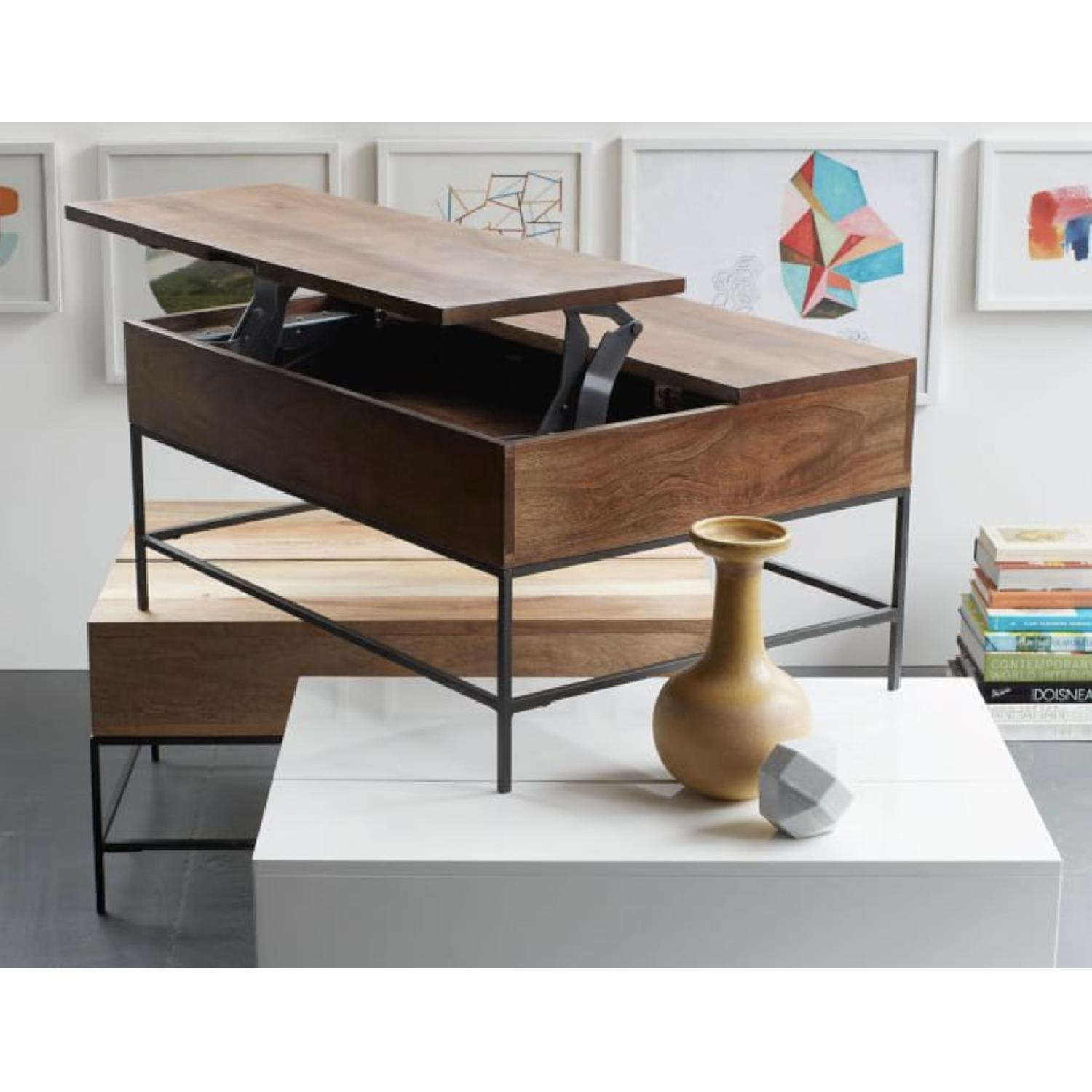 West Elm Industrial Storage Coffee Table AptDeco