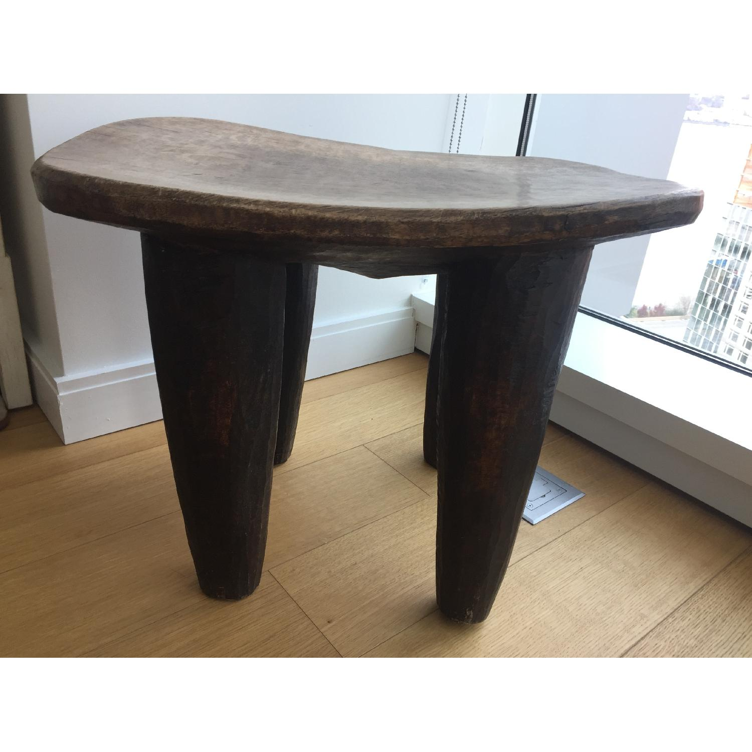 Senufo Tribal Stool Side Table AptDeco