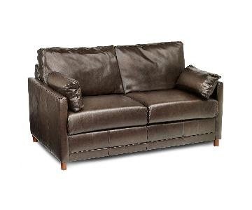 Jennifer Convertibles Brown Leather Sleeper Sofa