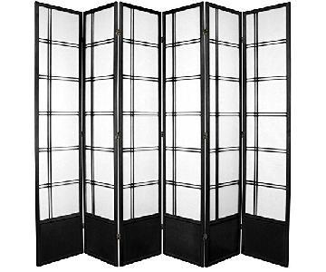 Oriental Furniture Tall Double Cross Shoji Screen